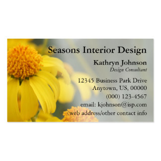 Desert Wildflowers Business Card Template