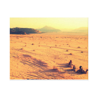 Desert with camels canvas print