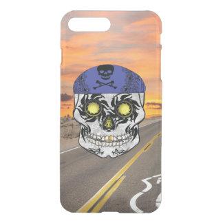 Deserted Highway Biker Candy Skull Iphone Case