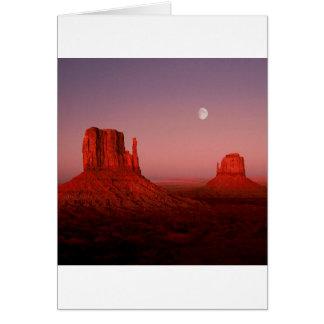 Deserts Moonrise Monument Valley Utah Card