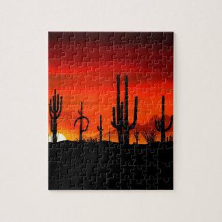 Deserts Saguaros Sonoran Arizona Jigsaw Puzzle