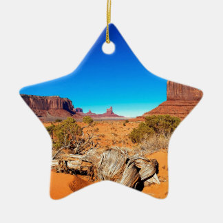 Deserts West Mitten Monument Valley Arizona Christmas Ornament