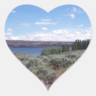 Desertscape with River Heart Sticker