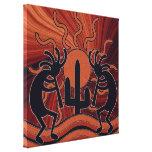 Deset Sun Cactus Southwest Kokopelli Canvas Prints
