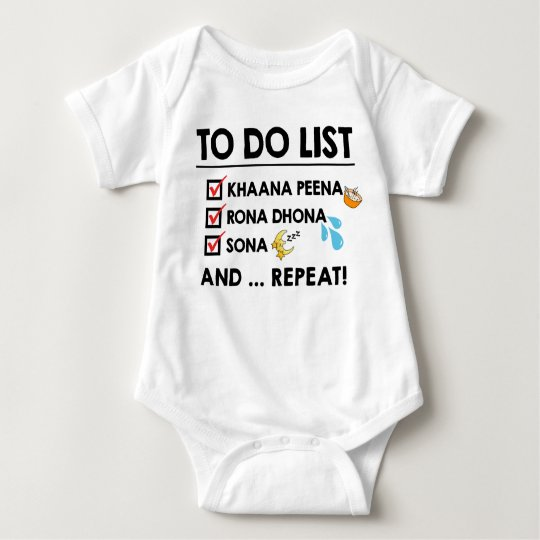 Desi Baby To-Do List! (Eat, Cry, Sleep) Baby