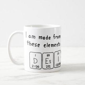 Desi periodic table name mug