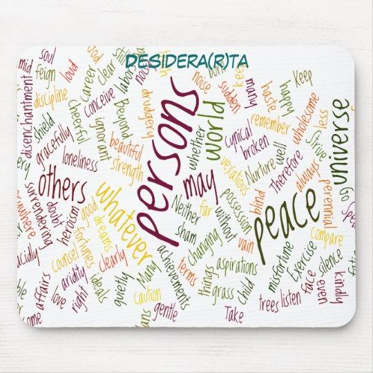 Desidera(R)ta positive words Mouse Mat