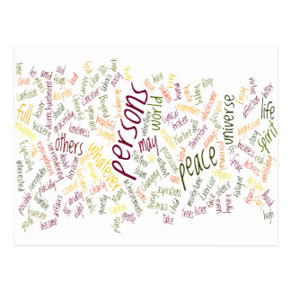 Desidera(R)ta positive words Postcard