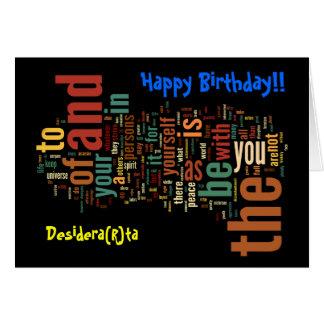 Desidera(R)ta Word Art birthday card