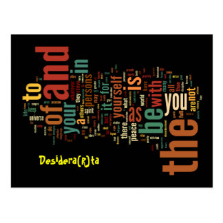 Desidera(R)ta Word Art post cards