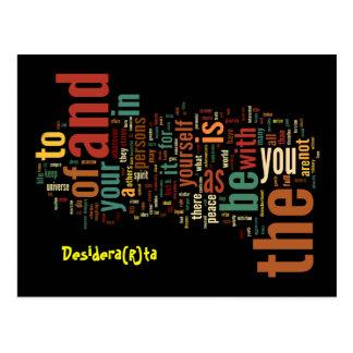 Desidera R ta Word Art post cards