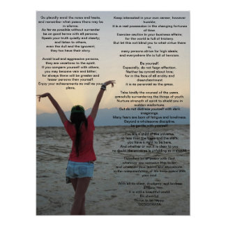 Desiderata 18 by 24 poster