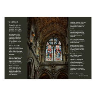 Desiderata - Above The Chapel Altar Poster