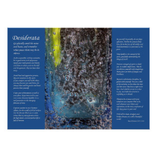 Desiderata - Abstract Glass Bubbles Poster