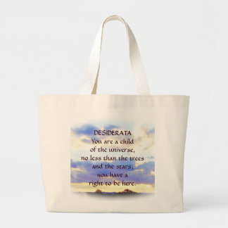DESIDERATA Air Element Skyscape Large Tote Bag