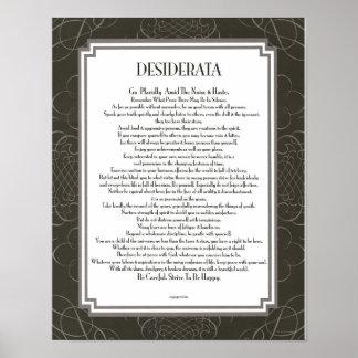 DESIDERATA Blackswirl Sans Poster