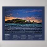 Desiderata - Burgh Island at Sundown Poster