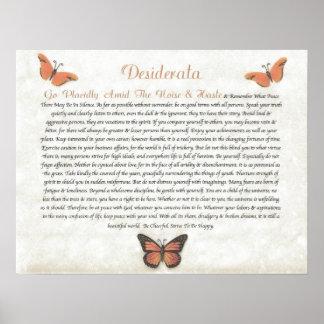 DESIDERATA  Cheerful Daisies Poster