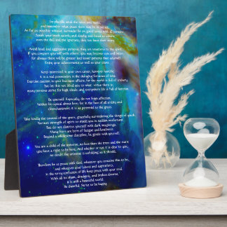 Desiderata Child of Universe Plaque