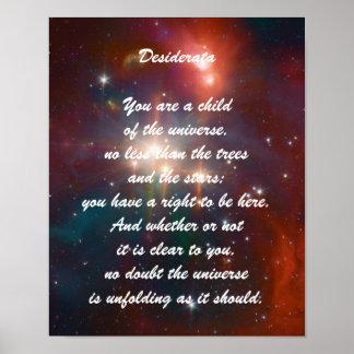 Desiderata Child of Universe Poster