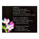 DESIDERATA Cosmic Blossoms postcard