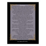 """Desiderata """"desired things"""", customisable colours poster"""
