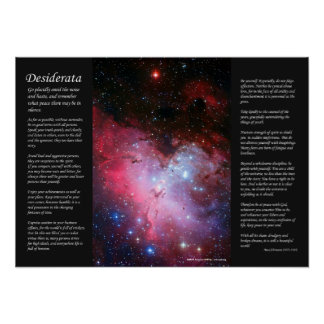Desiderata - Eagle Nebula, Messier 16, NGC 6611 Poster