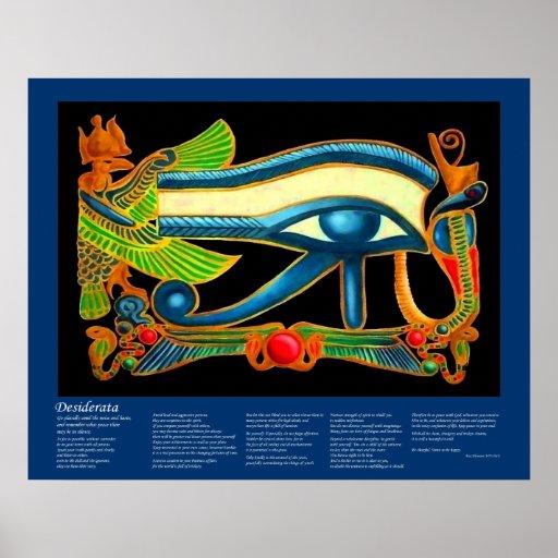 Desiderata - Eye of Horus Poster