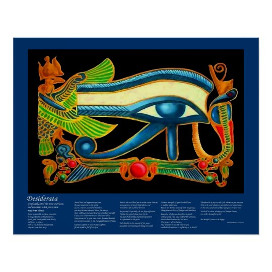 Desiderata - Eye of Horus Poster