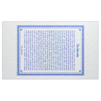 Desiderata fabric print, wall hanging, 3x5 ft