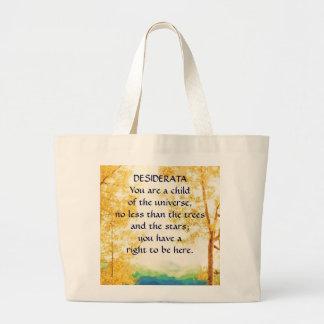DESIDERATA Faded Aspens bag