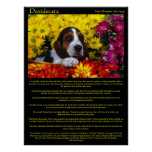 Desiderata Flower Beagle Posters