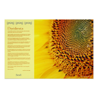 Desiderata - Golden Sunflower Seeds Poster