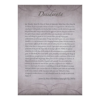 DESIDERATA in Lavender Fields Forever Poster