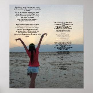 Desiderata ocean sunset poster