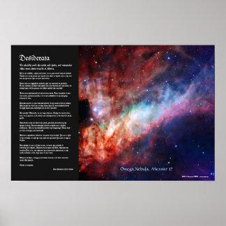 Desiderata - Omega Nebula, Messier 17 Poster