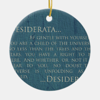 Desiderata On Canvas Christmas Ornament