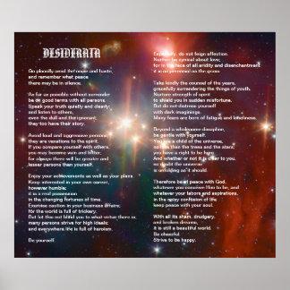 Desiderata on Coronet Galaxy Poster