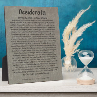 Desiderata on Gray Marble Plaque