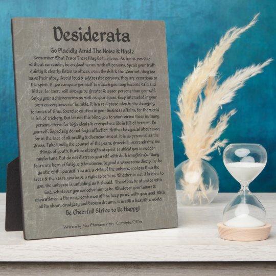 Desiderata on Grey Marble Plaque