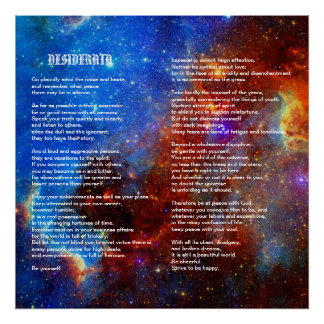 Desiderata on North American Star Poster