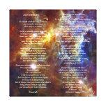 Desiderata on Rosette Galaxy Stretched Canvas Print
