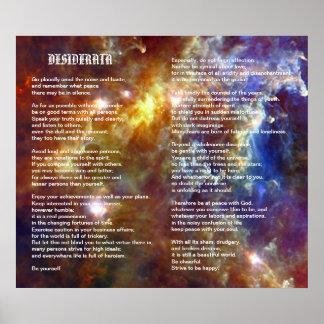 Desiderata on Rosette Galaxy Poster