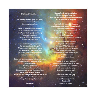 Desiderata on Tulip Galaxy Canvas Print
