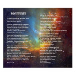 Desiderata on Tulip Galaxy Poster