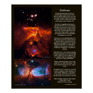 Desiderata - Outer Space beauty of Universe Stars Poster