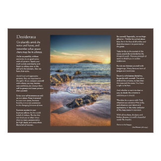 Desiderata poem - Burgh Island from Bantham Poster