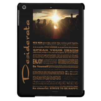 Desiderata Poem Girlfriends Watching The Sunset iPad Air Cases