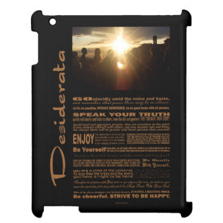 Desiderata Poem Girlfriends Watching The Sunset iPad Case