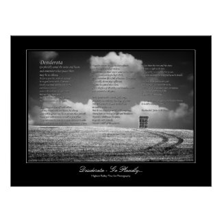 Desiderata Poem - Go Placidly Poster